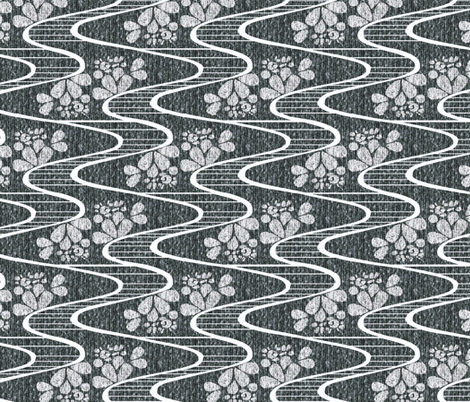 Urban Meanderings -  Snow fabric by glimmericks on Spoonflower - custom fabric