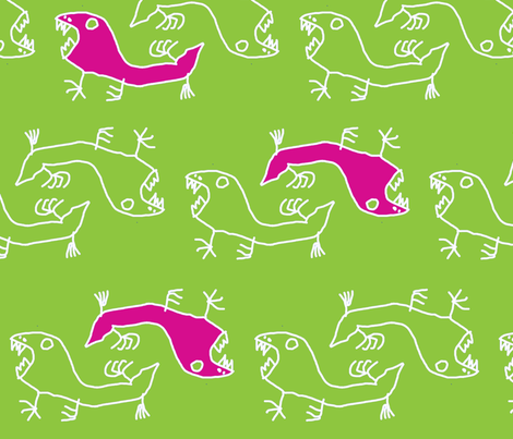 Fiaba Saurian fabric by fiaba_fabrics on Spoonflower - custom fabric