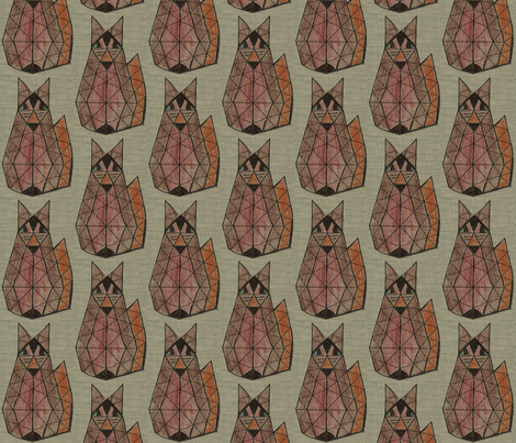 Foxy Fox fabric by anniedeb on Spoonflower - custom fabric