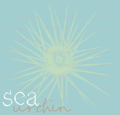 sea urchin 2 (lime & aqua sea)