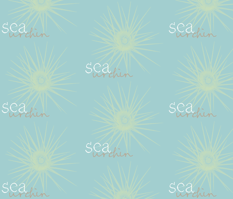 sea urchin 2 (lime & aqua sea) fabric by pattyryboltdesigns on Spoonflower - custom fabric