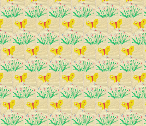 yellow butterflies fabric by anniedeb on Spoonflower - custom fabric