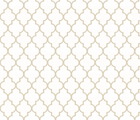 Khaki Ogee fabric by willowlanetextiles on Spoonflower - custom fabric