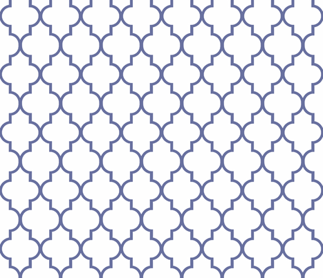 Nautical Blue and White Ogee fabric by willowlanetextiles on Spoonflower - custom fabric