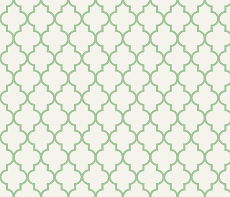 Summer Lawn Quatrefoil fabric by sparrowsong on Spoonflower - custom fabric