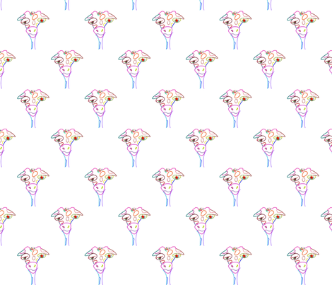 Giraffe Doodle fabric by mudballmermaid on Spoonflower - custom fabric