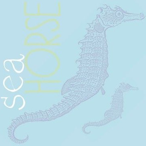 Seahorse (light blue)