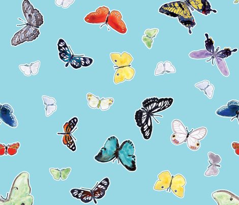 Butterfiles Big fabric by anntuck on Spoonflower - custom fabric