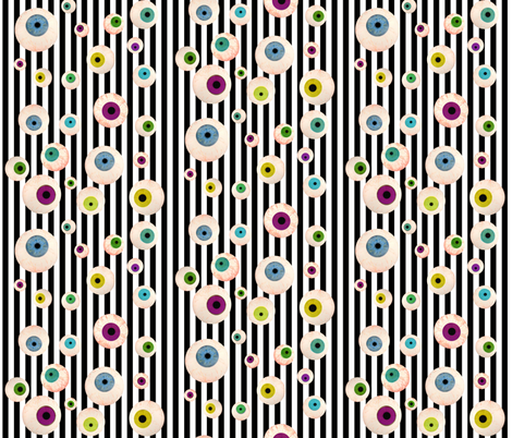 Eyeballs fabric by whimzwhirled on Spoonflower - custom fabric