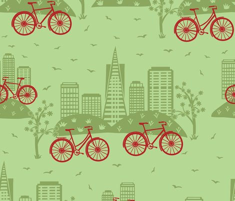 Rrcity_bikes_red_on_green_rev_color_shop_preview
