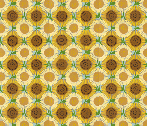 sunflowers fabric by klover on Spoonflower - custom fabric