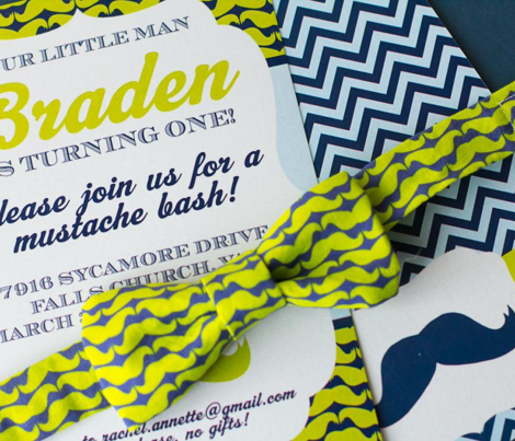 Little Man Mustache Bash Fabric
