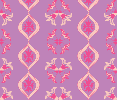Easter Lilly Lavender  fabric by fabricfarmer_by_jill_bull on Spoonflower - custom fabric