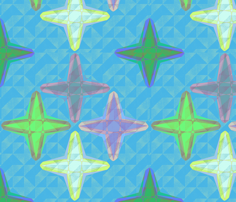 x_crystals fabric by glimmericks on Spoonflower - custom fabric