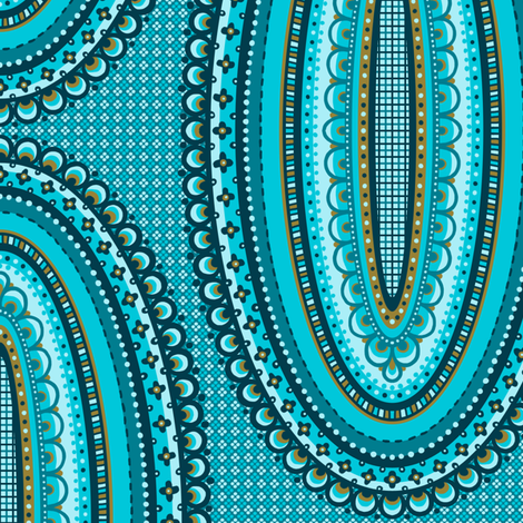 Ornamental Ovals fabric by siya on Spoonflower - custom fabric