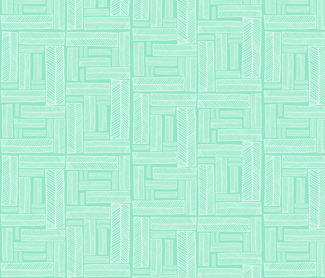 boxes.aqua fabric by rachaelanndesign on Spoonflower - custom fabric