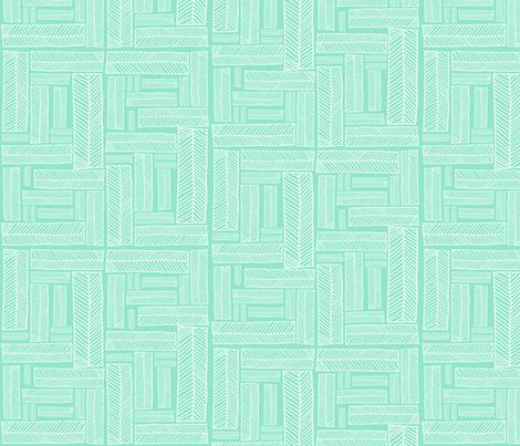 boxes.aqua fabric by rachaelanndesign on Spoonflower - custom fabric