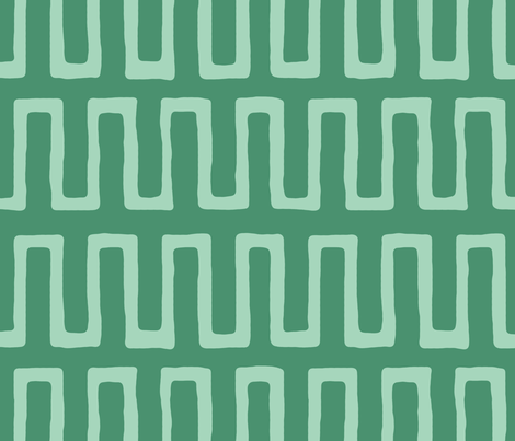 Urn in jade fabric by domesticate on Spoonflower - custom fabric