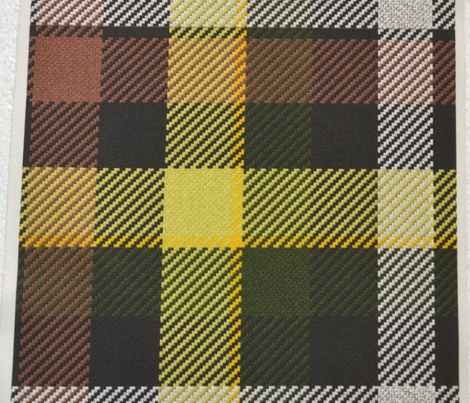 Brown Yellow and Green Plaid