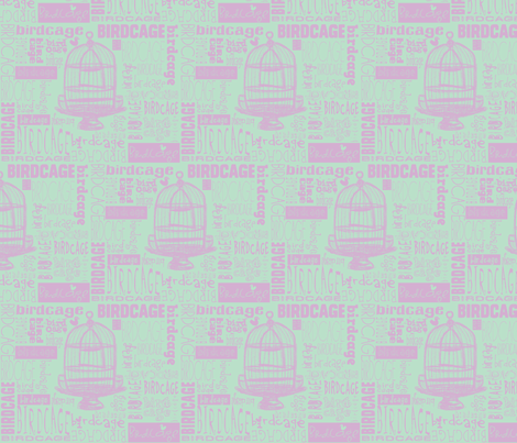 Birdcage Type! (Lilac & sea green) fabric by pattyryboltdesigns on Spoonflower - custom fabric