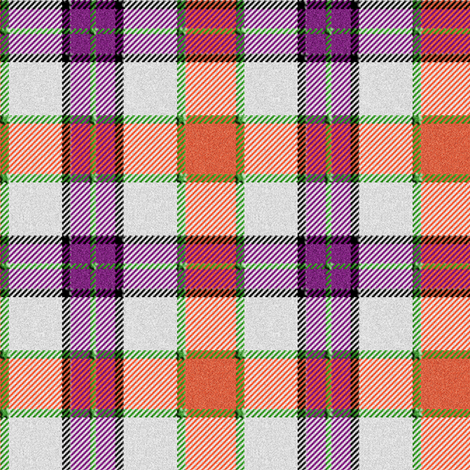 Purple and Orange Tartan
