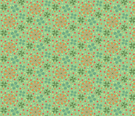 orange_olive_celebration_spoonflower fabric by julistyle on Spoonflower - custom fabric