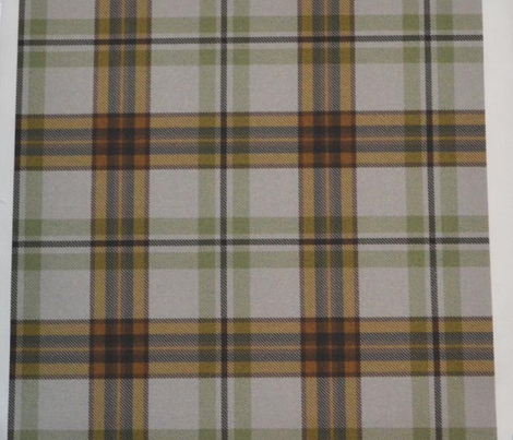 Moss and Tan Tartan