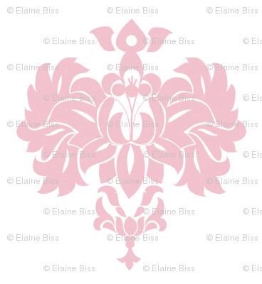 Pink Country Damask