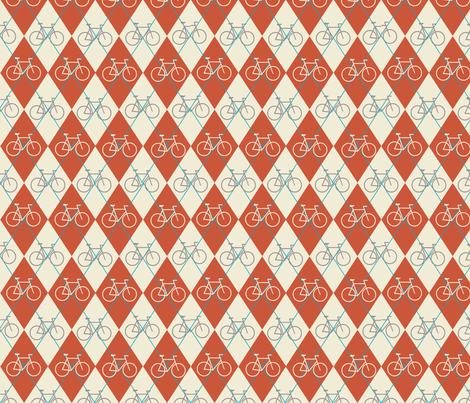 Argyle Bikes fabric by christy_kay on Spoonflower - custom fabric