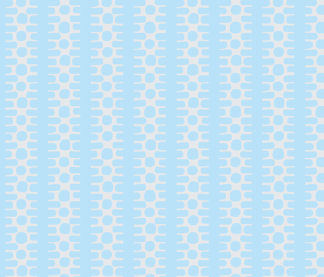 Bumpy Dotty Stripe 2 (lt. sky blue & lt. grey) fabric by pattyryboltdesigns on Spoonflower - custom fabric