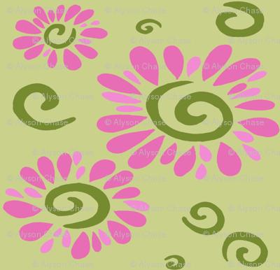 swirly daisies