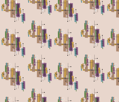 Misty- Retro custom design fabric by cynthiafrenette on Spoonflower - custom fabric