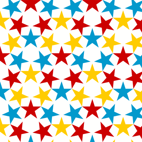 U53 V1 3 x 3 stars fabric by sef on Spoonflower - custom fabric