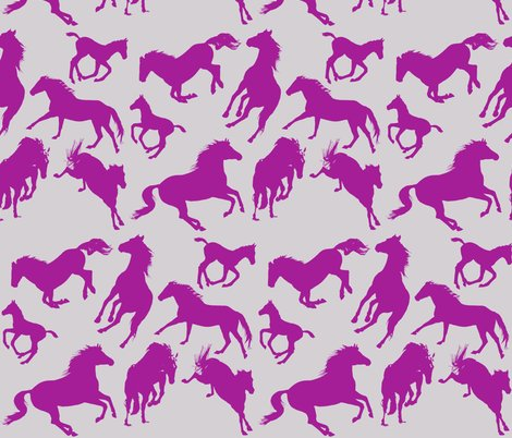 Rrrhorses_silhouettes_dark_fuscia_on_silver_shop_preview