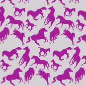 Rrrhorses_silhouettes_dark_fuscia_on_silver_shop_thumb