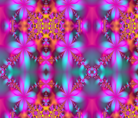 hot pink flower fabric by krs_expressions on Spoonflower - custom fabric