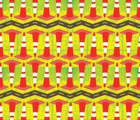 City Traffic fabric by isabelc on Spoonflower - custom fabric