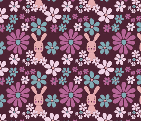 sweetbunny fabric by lilliblomma on Spoonflower - custom fabric