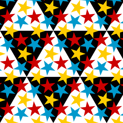 U53 V1 triangle circus fabric by sef on Spoonflower - custom fabric