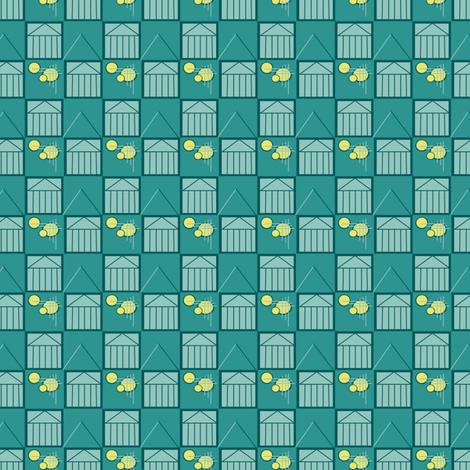 deco blue fabric by librarysherry on Spoonflower - custom fabric