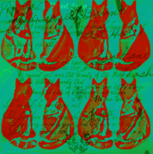 Cats/ Post No Bills, In Strawberry and Field Green