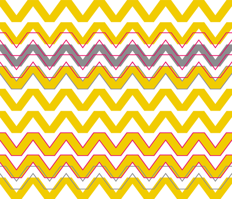 city chevron fabric by kfay on Spoonflower - custom fabric