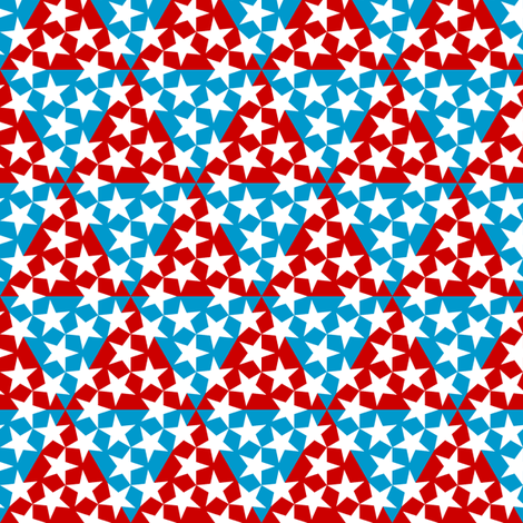 U53 V1 triangle patriot fabric by sef on Spoonflower - custom fabric