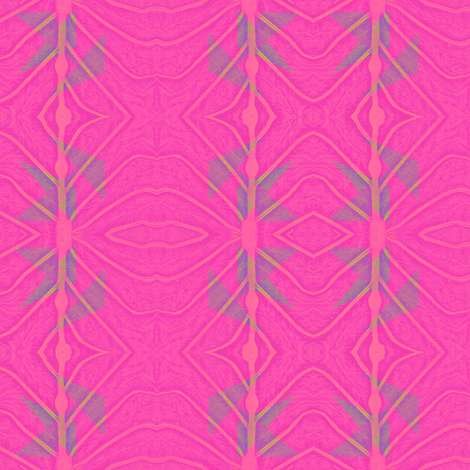 pink_leaf_2 fabric by tissu-de-jardins on Spoonflower - custom fabric