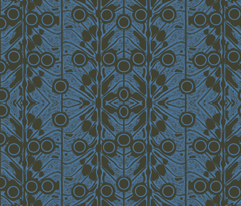 leaf_blue.node fabric by tissu-de-jardins on Spoonflower - custom fabric