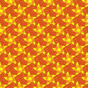 aurinkomyrsky-kuosi2-punapohja