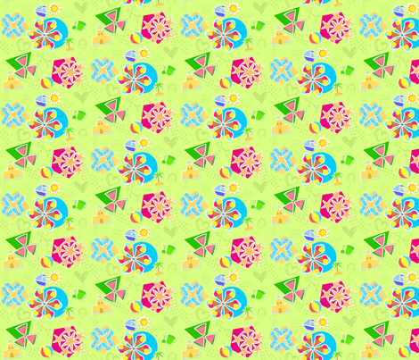 Summer Beach Fun fabric by gg33 on Spoonflower - custom fabric