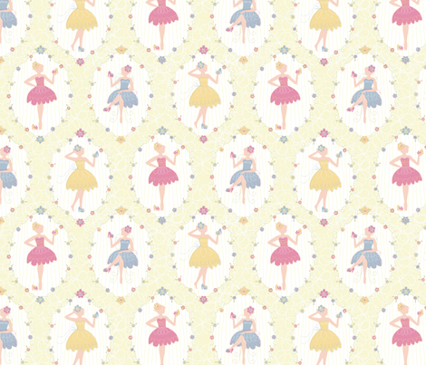 Tiny Dancer fabric by deerlyyours on Spoonflower - custom fabric