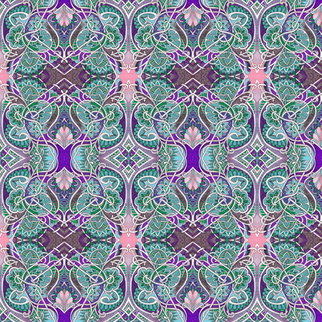 Aqua and Purple Crossing fabric by edsel2084 on Spoonflower - custom fabric