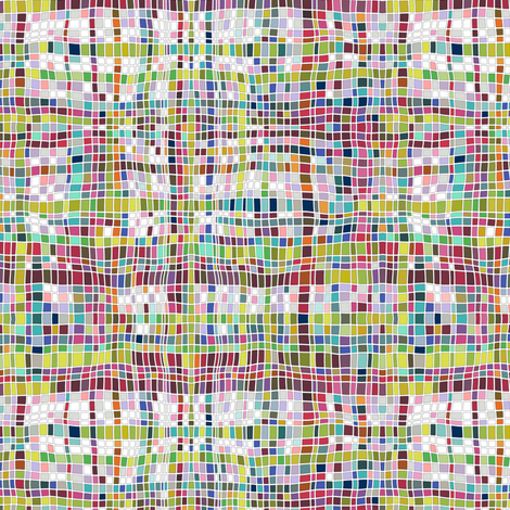 weave mosaic bright fabric by scrummy on Spoonflower - custom fabric